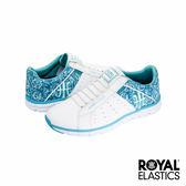 Royal Elastics Zephyr 經典運動鞋-白x水藍印花