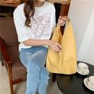 單肩包托特包女大容量水桶包軟皮手拎編織包小眾設計單肩包包女2020新款 小山好物