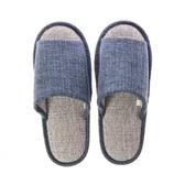 柔軟雅緻保暖室內拖鞋-灰藍XL