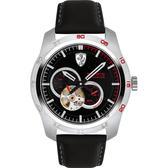 Scuderia Ferrari 法拉利 PRIMATO 鏤空機械錶-黑/44mm FA0830442