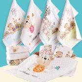 5條紗布小毛巾兒童專用純棉洗臉寶寶長方形