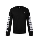 PUMA Rebel Crew Sweat FL 女款黑色長袖上衣-NO.58162801