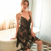 蕾絲吊帶睡裙 夏季薄款情趣睡衣女 性感睡衣女夏透明性感騷午夜魅力