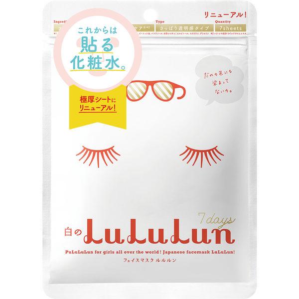 日本LuLuLun化妝水面膜7片裝-清爽透亮白 ◆86小舖 ◆