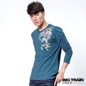 BIG TRAIN 墨達人飛龍騰雲TEE-男-藍色