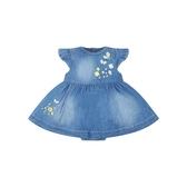 mothercare 藍牛仔刷白夏日洋裝-素雅藍粉(M0PE209)03M~24M