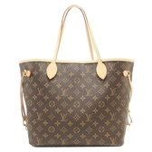LOUIS VUITTON LV 路易威登 原花手提肩背大購物包 NEVER FULL MM M40955