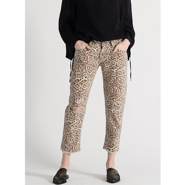 OneTeaspoon 牛仔褲- AWESOME BAGGIES LEOPARD AWESOME BAGGIES STRAIGHT LEG JEAN-豹紋(女)