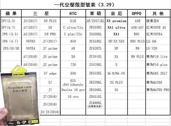 88柑仔店~華碩ZenFone3 Zoom手機殼ZE553KL氣墊空壓殼透明硅膠防摔保護套