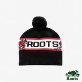 ROOTS配件- 曲棍球毛球針織帽-黑色