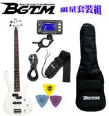 ★集樂城樂器★嚴選BGTM JB-150WH電貝司套裝組(白)~15W音箱加購999!