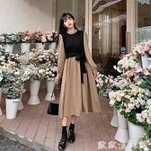 襯衫洋裝 法式復古長袖連衣裙女裝秋季2021新款設計感小眾收腰顯瘦氣質裙子 歐歐