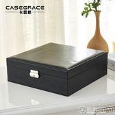 首飾盒公主歐式韓國手飾品飾品盒帶鎖盒大容量雙層戒指首飾收納盒   電購3C