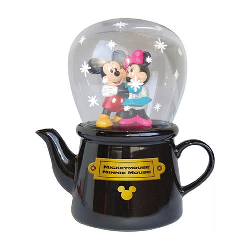 《sun-art》迪士尼米奇米妮情侶擁抱陶磁茶壺&玻璃杯組/單人茶具組★funbox生活用品★_NR22721