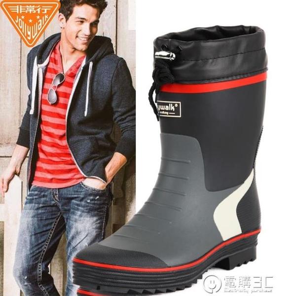 雨鞋男時尚膠鞋春夏男士雨靴水鞋男套鞋釣魚鞋中筒防水防滑水靴 聖誕節免運