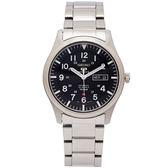 SEIKO 盾牌5號的機械手錶(SNZG13K1)-黑面X銀色/42mm