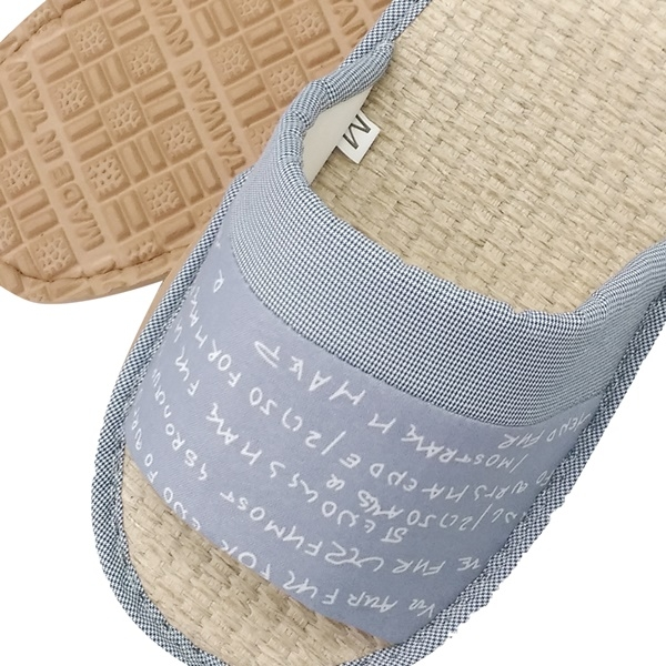 【333家居鞋館】親膚紙蓆 手繪字母室內蓆拖鞋-咖啡色