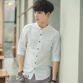 【618好康又一發】純棉文藝短袖男士襯衫夏季修身