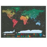 熱銷迷你黑色奢華版刮刮地圖 小號Scratch Map世界版旅游日志地圖  IGO