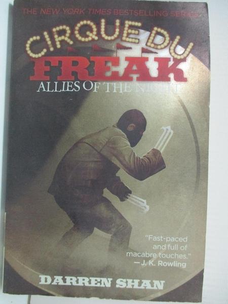【書寶二手書T1/原文小說_GZ1】Cirque Du Freak #8: Allies of the Night: Book 8 in the Saga…