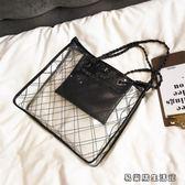 透明包包女鏈條手提包單肩果凍包