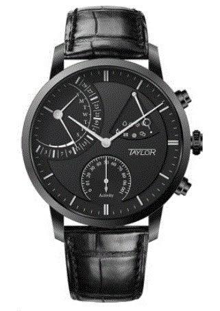 TAYLOR Mechanical SMART智能腕錶15007A5-黑面/黑鋼/45mm