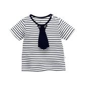 叮當槌夏裝兒童裝男童女童寶寶t恤體恤嬰兒上衣1條紋2短袖3歲夏季
