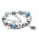 時尚手鏈 合金大孔珠手鏈 琉璃串珠手鏈s02