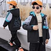 衝鋒衣秋冬男寶寶棉衣 中大童韓版外套羽絨服 兒童加絨潮流夾克外套 羽絨外套男孩7Plus