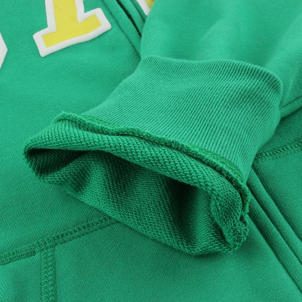 Gap男童 碳素軟磨系列 Logo法式圈織漸層連帽外套 682890-綠色