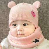 兒童帽子秋冬季0-3-6-12個月寶寶毛線帽新生幼兒胎帽嬰兒帽男女孩