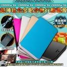 柚柚的店 20000mAh【37439】 超薄鈦合金聚合物行動電源充電器