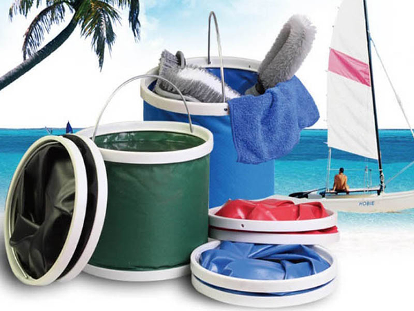 【13L摺疊水桶】多功能折疊式方便攜帶 戶外釣魚洗車清潔 收納桶 牛津布置物桶