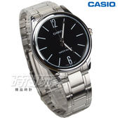 CASIO卡西歐 MTP-V005D-1B 簡約指針男錶 不銹鋼錶帶 防水手錶 學生錶 黑面 MTP-V005D-1BUDF