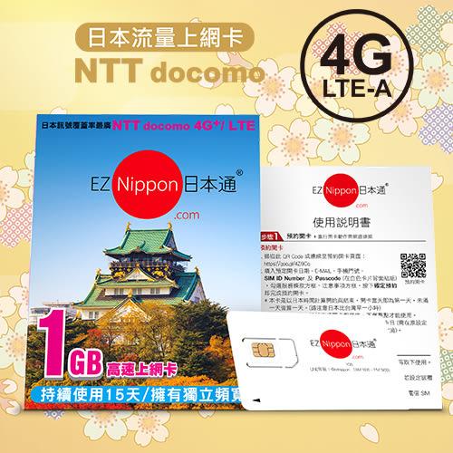 EZ Nippon日本通 1GB上網卡 (自開卡日起連續使用15日) (OS小舖)
