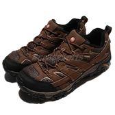 Merrell 戶外鞋 Moab 2 GTX 咖啡 黑 Gore-Tex 防水 透氣 越野 休閒鞋 運動鞋 男鞋【PUMP306】 ML06041