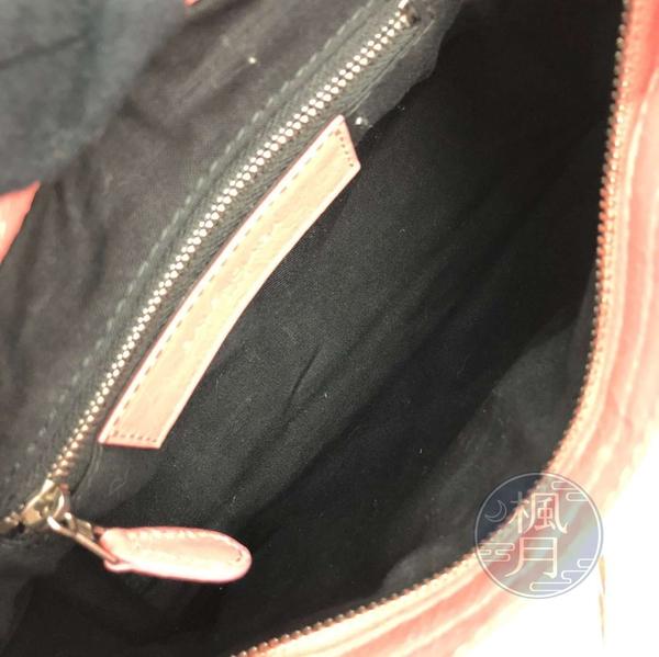 BRAND楓月 BALENCIAGA 巴黎世家 309544 粉色銀釦 MINI CITY 迷你機車包 斜背包 肩背包