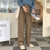 直筒褲 2020春夏新款韓國ins垂感直筒休閑西裝褲女高腰寬松闊腿褲拖地褲