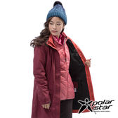 PolarStar 女 二件式防風羽絨外套『酒紅』P18236 戶外 休閒 登山 露營 保暖 禦寒 防風 連帽