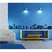 城市風光剪影壁貼 客餐廳臥室教室牆壁裝潢設計佈置貼紙《生活美學》