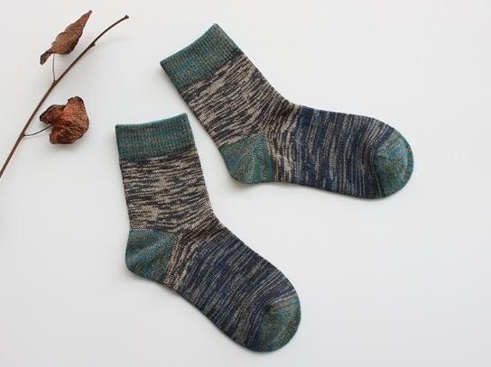 [協貿國際]秋冬加厚混色戶外運動短襪