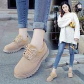英倫復古女娃娃鞋 小皮鞋女英倫風復古單鞋2017春秋季韓版厚底女鞋學院學生鞋馬丁鞋 99免運