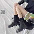 馬丁靴 鬆緊馬丁靴女英倫風2021年新款秋鞋百搭春夏瘦瘦靴短靴潮ins【快速出貨八折鉅惠】