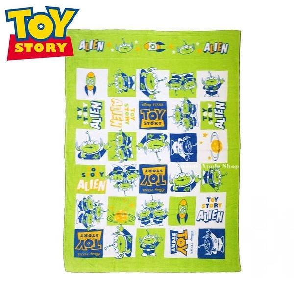 日本限定 丸真 迪士尼 玩具總動員 三眼怪 火箭方格繪圖 被毯(85×115)