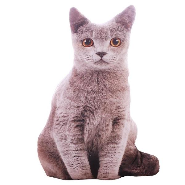 可拆洗日本仿真貓咪抱枕3D毛絨玩具貓型玩偶長條可愛少女心禮物 西城故事
