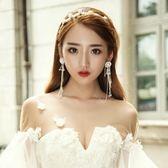 年終盛宴  新款新娘頭飾韓式珍珠發帶耳環套裝發箍配飾婚紗禮服結婚盤發飾品   初見居家