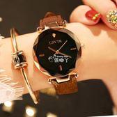 手錶女學生時尚潮流韓版簡約休閒大氣ulzzang皮帶防水石英錶 俏腳丫