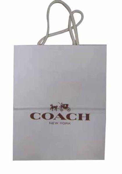 ~雪黛屋~COACH提袋國際正版長型皮夾小型包小手拿包紙提袋進口紙質摺疊收納展開為提袋-提袋#8140