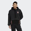 【跨店折後$3180】adidas ADVENTURE 衝鋒衣 外套 拼接 絨毛 防風 GV0929