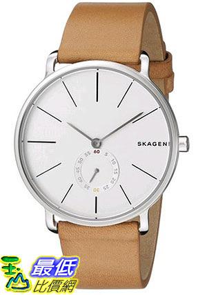 [105美國直購] 男士手錶 Skagen Hagen Multifunction Leather Watch SKW6215